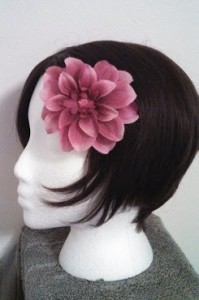 pink flower hair accessory